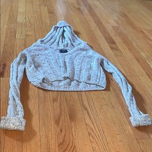 Cropped Abercrombie Sweater W/ Hood